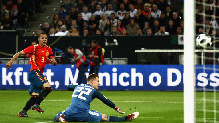 Rodrigo strikes early against Germany in March 2018