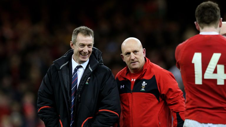Rob Howley (left), Shaun Edwards (right) and McBryde will prepare Wales for their autumn opener against Scotland