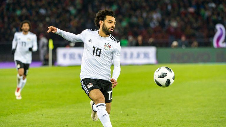 Mohamed Salah in action for Egypt.