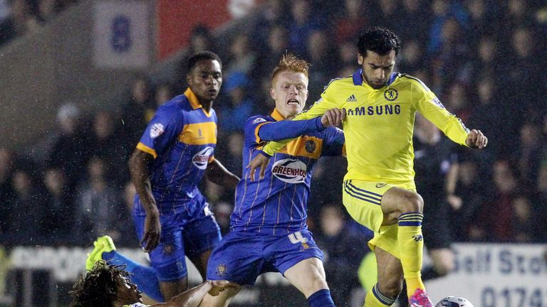 Salah struggled in a League Cup tie against Shrewsbury