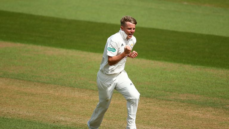 Sam Curran took 10 wickets in the match as Surrey crushed Yorkshire