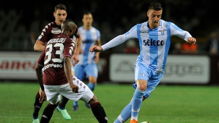 Lazio's Sergej Milinkovic Savic