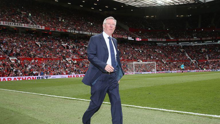 Sir Alex Ferguson at Michael Carrick's testimonial