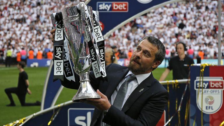 Fulham boss Slavisa Jokanovic celebrates after winning the play-offs