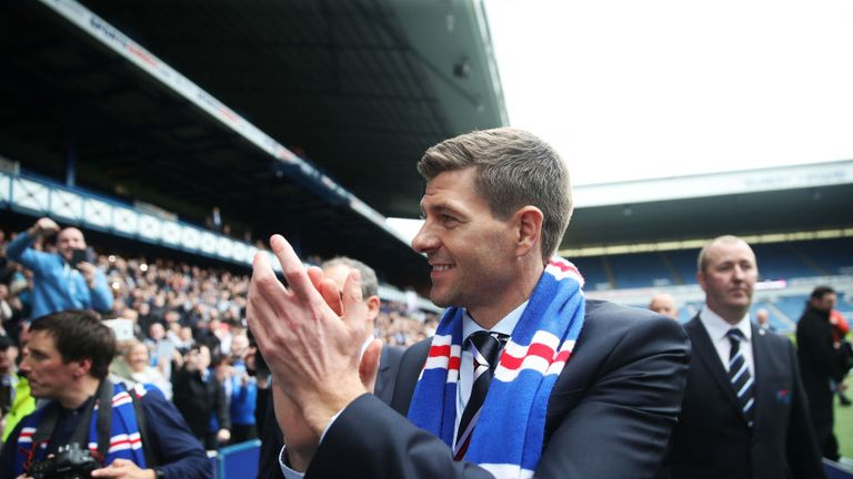 Gerrard officially took charge of the Ibrox club on Friday