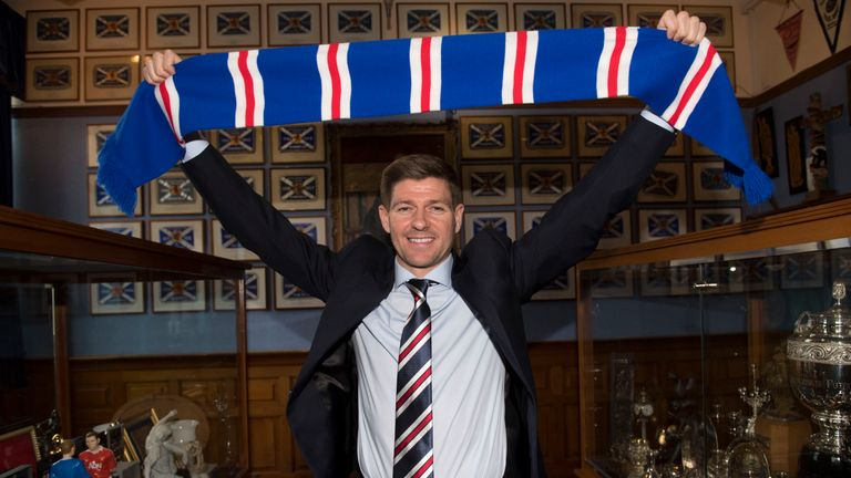 Steven Gerrard has entered management with Rangers