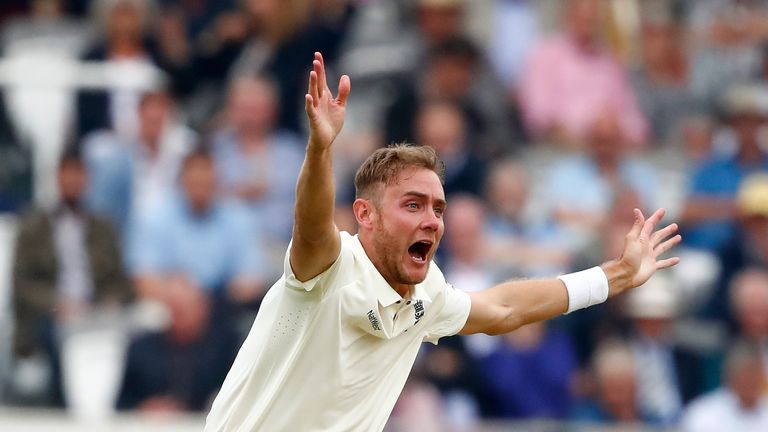 Stuart Broad is aiming to be fit in time for the Test series against India