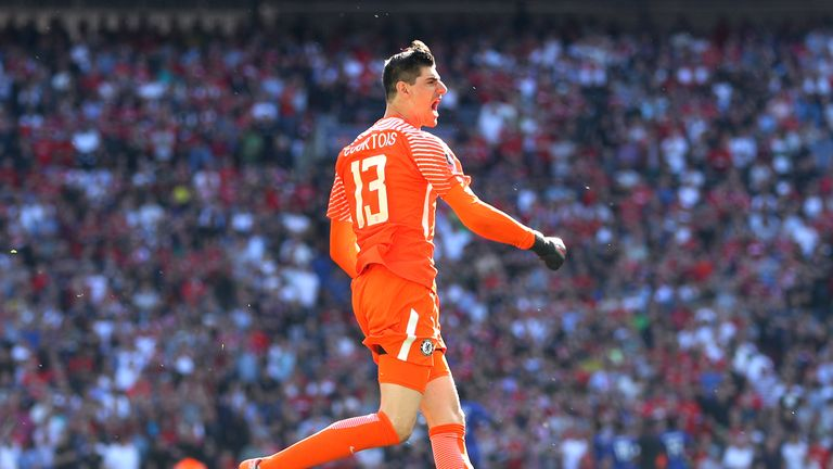 Courtois has made 57 appearances for Belgium