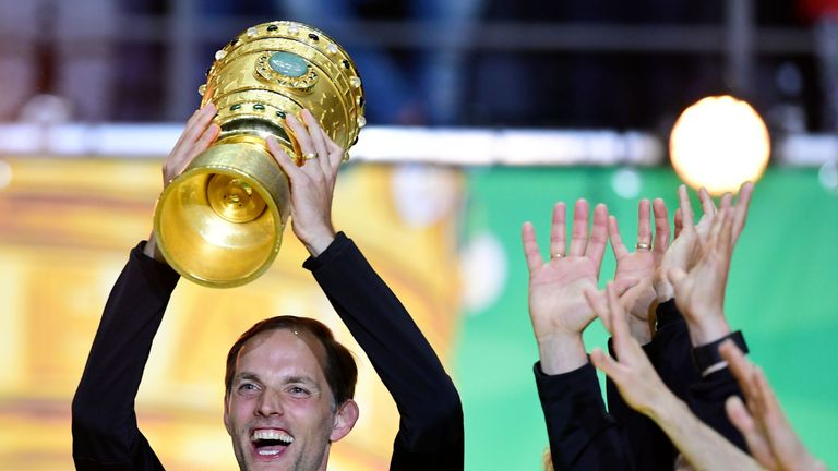 Tuchel celebrates after winning the DFB-Pokal Cup