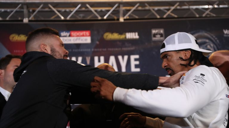 Bellew shoved Haye away on Thursday
