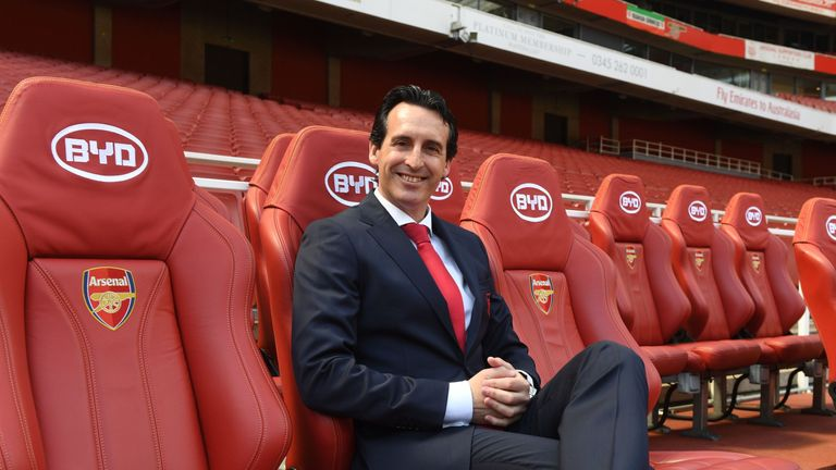Emery looked comfortable on his first day in the job