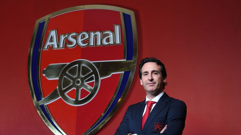 Unai Emery is taking his first season in charge of Arsenal