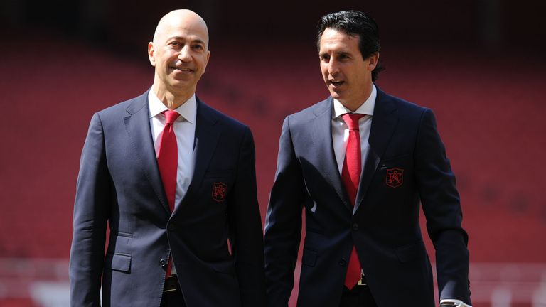 Emery says chief executive Ivan Gazidis has made no suggestion he is leaving Arsenal
