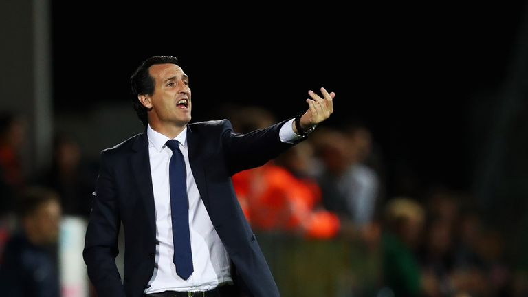 Unai Emery won 87 of his 113 matches in charge at PSG