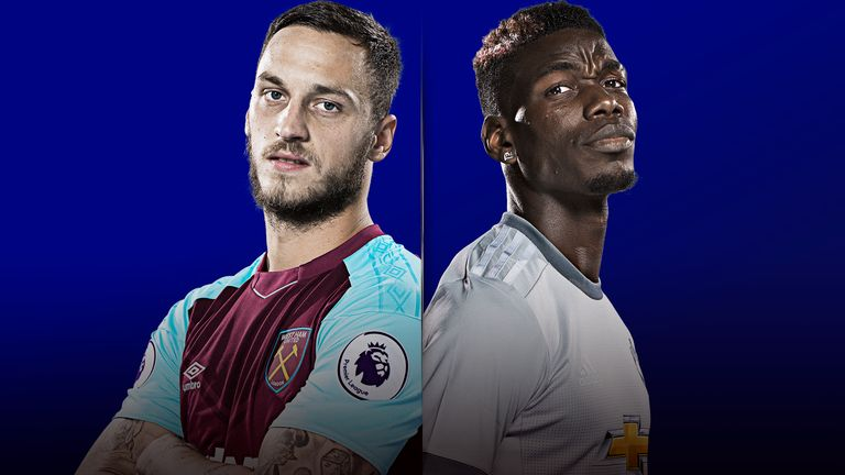 West Ham United v Manchester United is live on Sky Sports on Thursday