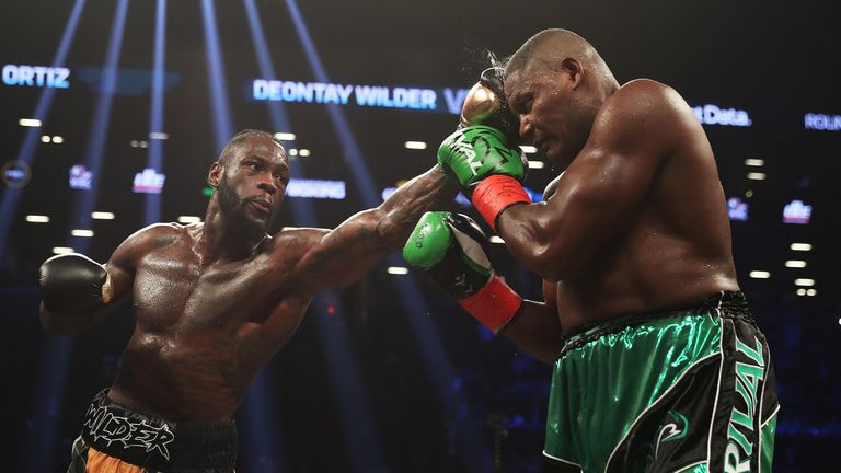 WBC champion Wilder stopped Luis Ortiz in their first fight last March
