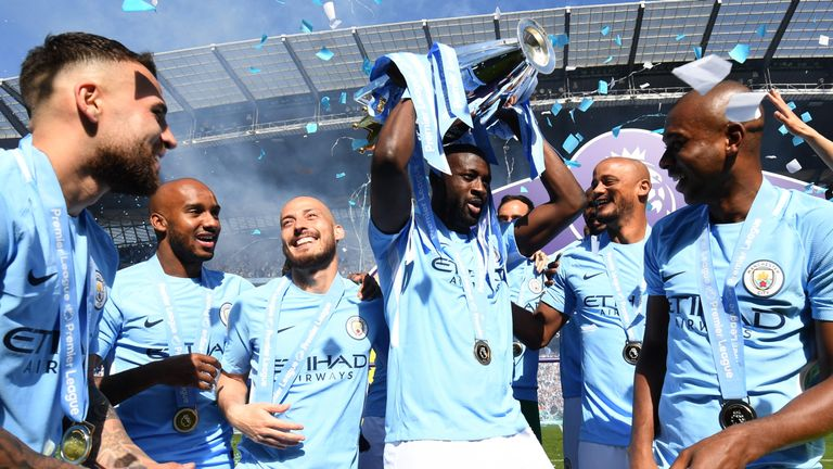 Toure won his third Premier League title with City this season, despite playing only 16 times from the bench