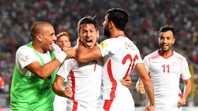 Youssef Msakni (middle) was instrumental in Tunisia's World Cup qualification, but will miss the tournament itself