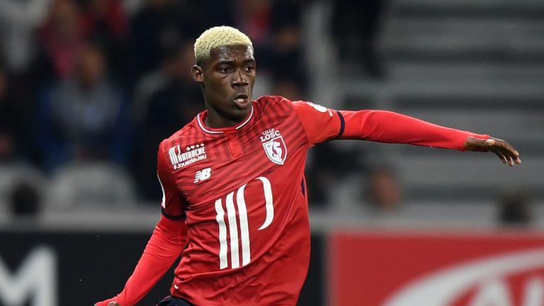 Lille midfielder Yves Bissouma