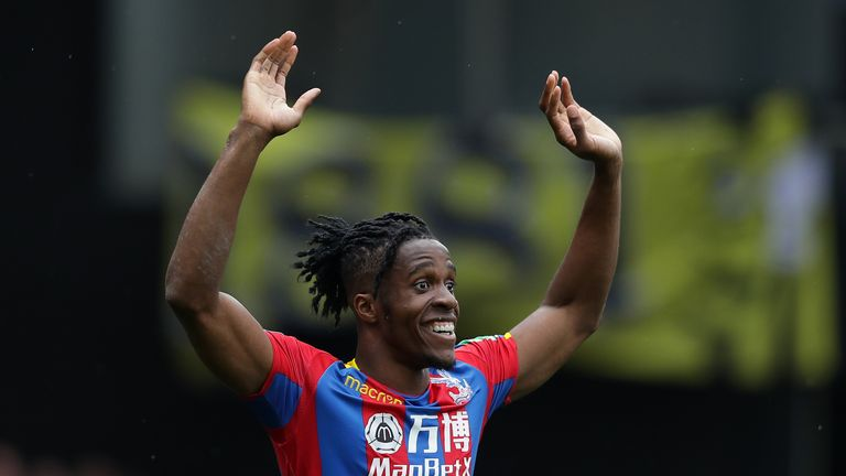 Wilfried Zaha has helped steer Crystal Palace to safety this season