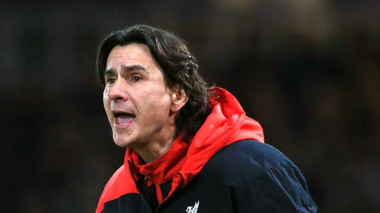 Liverpool assistant manager Zeljko Buvac during the FA Cup Fourth Round reply against West Ham at Upton Park