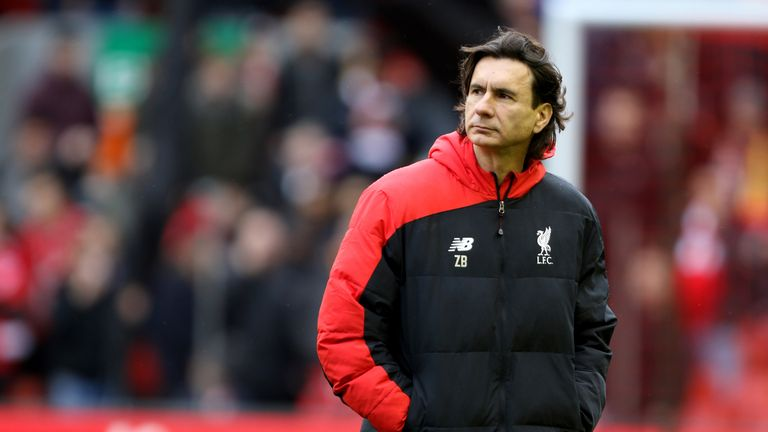 Liverpool coach Zelkjo Buvac during a Premier League match at Anfield on February 6, 2016