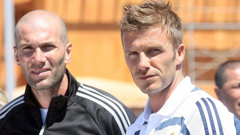 Zinedine Zidane and David Beckham played together at Real Madrid