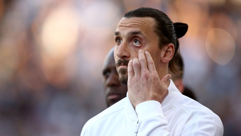 Zlatan Ibrahimovic left Man United to join LA Galaxy in March