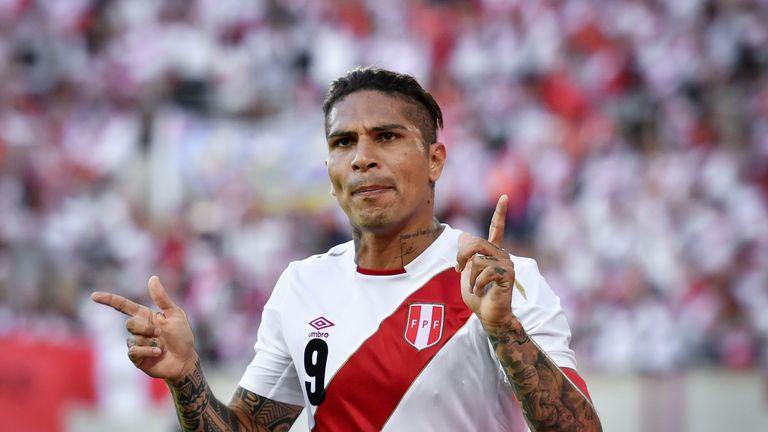Peru's forward Paolo Guerrero