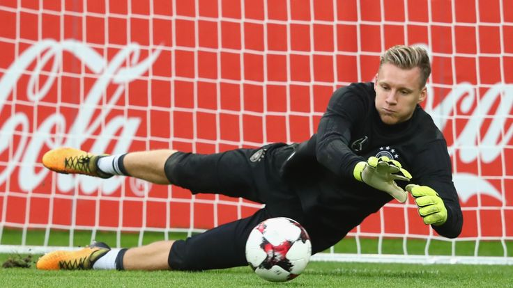 Bernd Leno during a training session at Opel Arena Mainz ahead of their FIFA 2018 World Cup Group C against Azerbaijan on October 7, 2017 in Mainz, Germany.