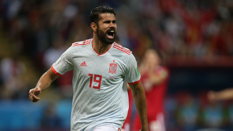 Diego Costa was Spain's starting striker at the World Cup