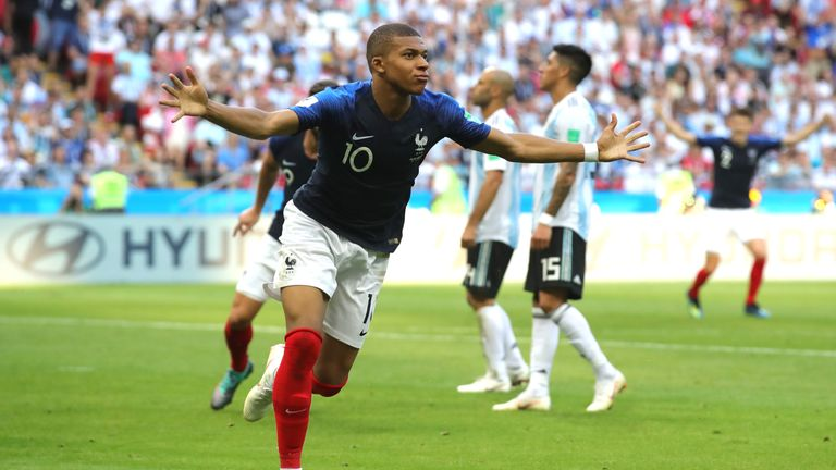 Kylian Mbappe scored twice to help France to victory