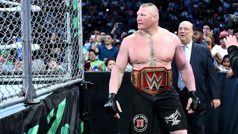 Brock Lesnar has made 10 title defences during his record-setting reign