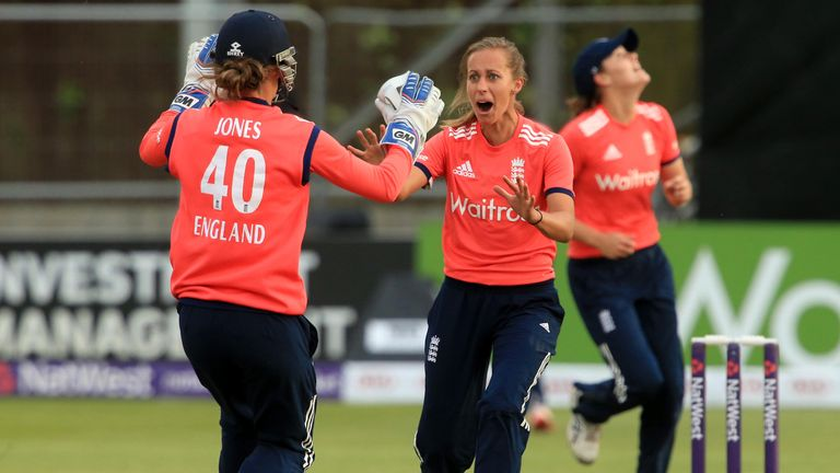 Natasha Farrant (right) has been included in England's tri-series squad