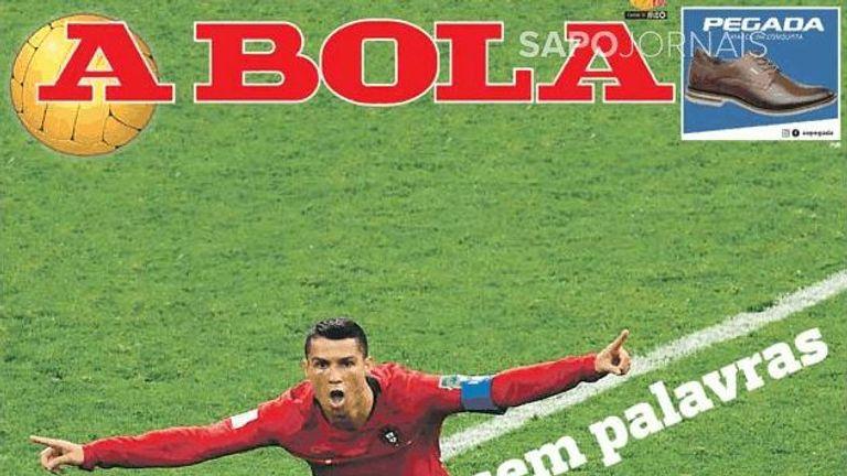 Portuguese paper A Bola Ronaldo