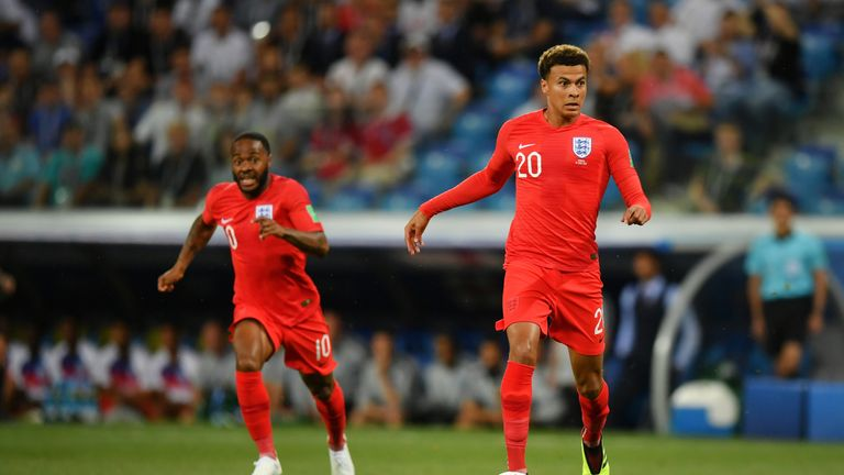 Dele Alli injured his quad muscle in the first half against Tunisia