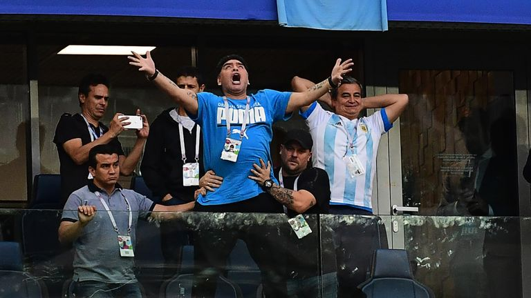 Diego Maradona reassures fans after health scare in