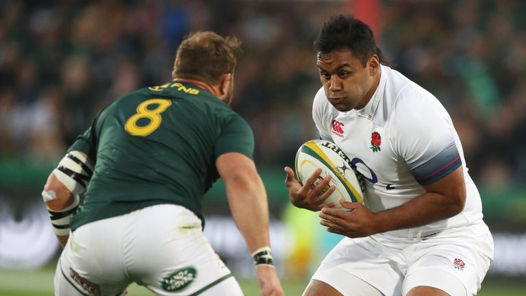 England's Billy Vunipola was forced off at half time in the second Test against South Africa