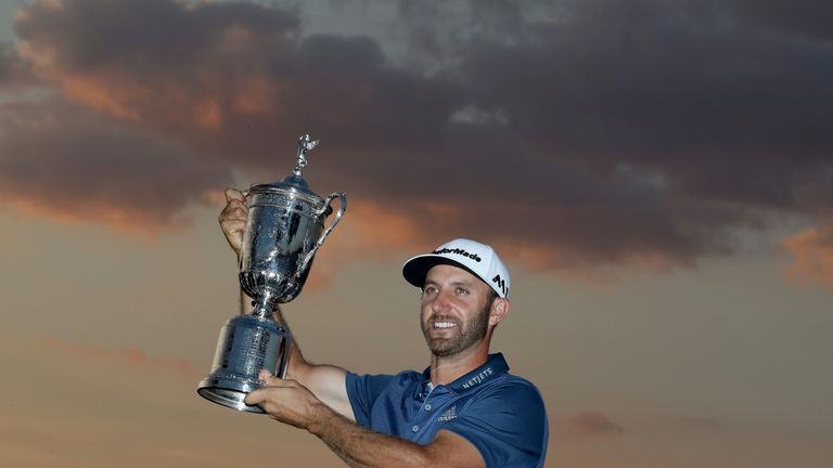 Johnson claimed a three-shot win at the 2016 US Open at Oakmont