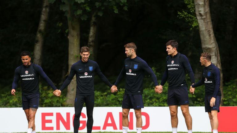 (L-R) John Stones, Gary Cahill and Harry Maguire will compete for positions in central defence