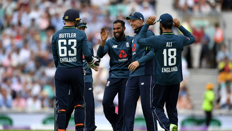 Adil Rashid during the 1st Royal London ODI match between England and Australia at The Kia Oval on June 13, 2018 in London, England.