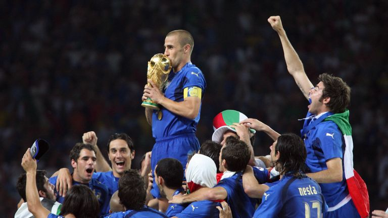 Cannavaro won the 2006 World Cup