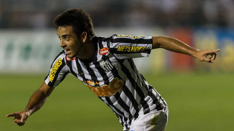 Felipe Anderson started his career with Santos