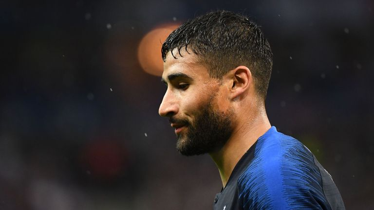 French forward Nabil Fekir reacts during the friendly football match between France and Ireland