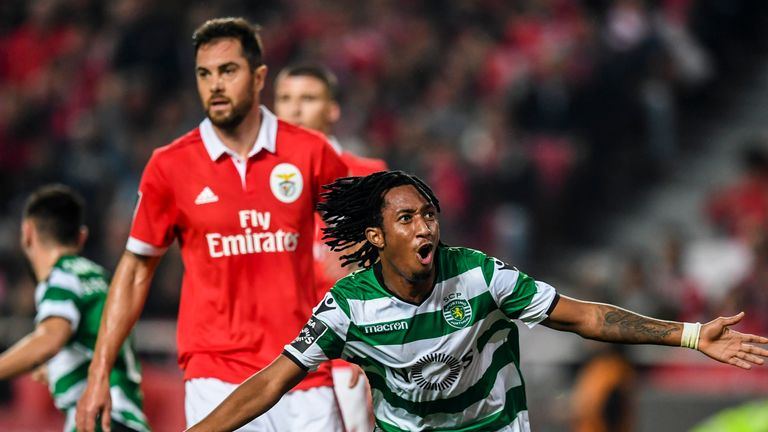 Martins has scored 18 goals in 92 appearances for Sporting