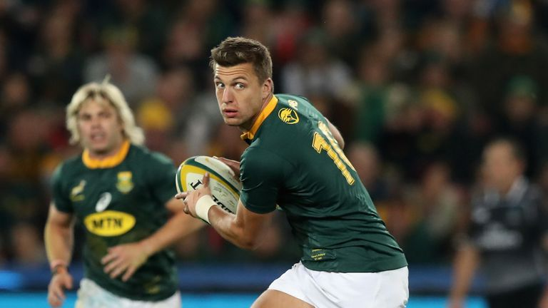 Handre Pollard will have to step up and control proceedings for the Boks in the absence of De Klerk
