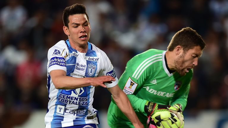 Lozano spent four seasons in Pachuca's first team