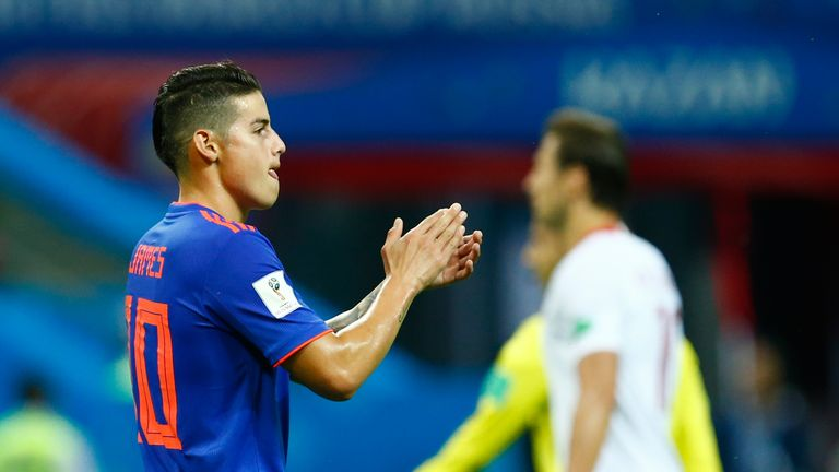 James Rodriguez set up two of Colombia's three goals