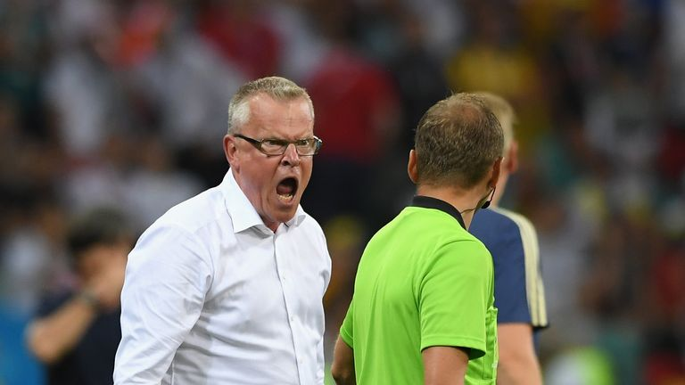 Janne Andersson was also unhappy with the officials on Saturday evening