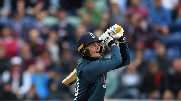 during the 2nd Royal London ODI between England and Australia at SWALEC Stadium on June 16, 2018 in Cardiff, Wales.